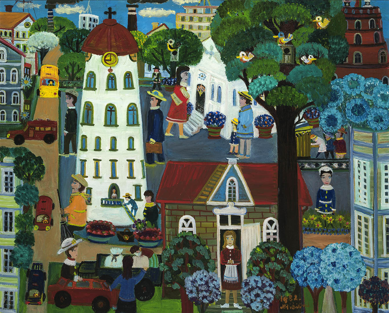 Monika Bičiūnienė. Vilnius, 1982 m. Drobė, aliejus; 81 x 100 cm (LNM Liaudies tapybos rinkinys)
