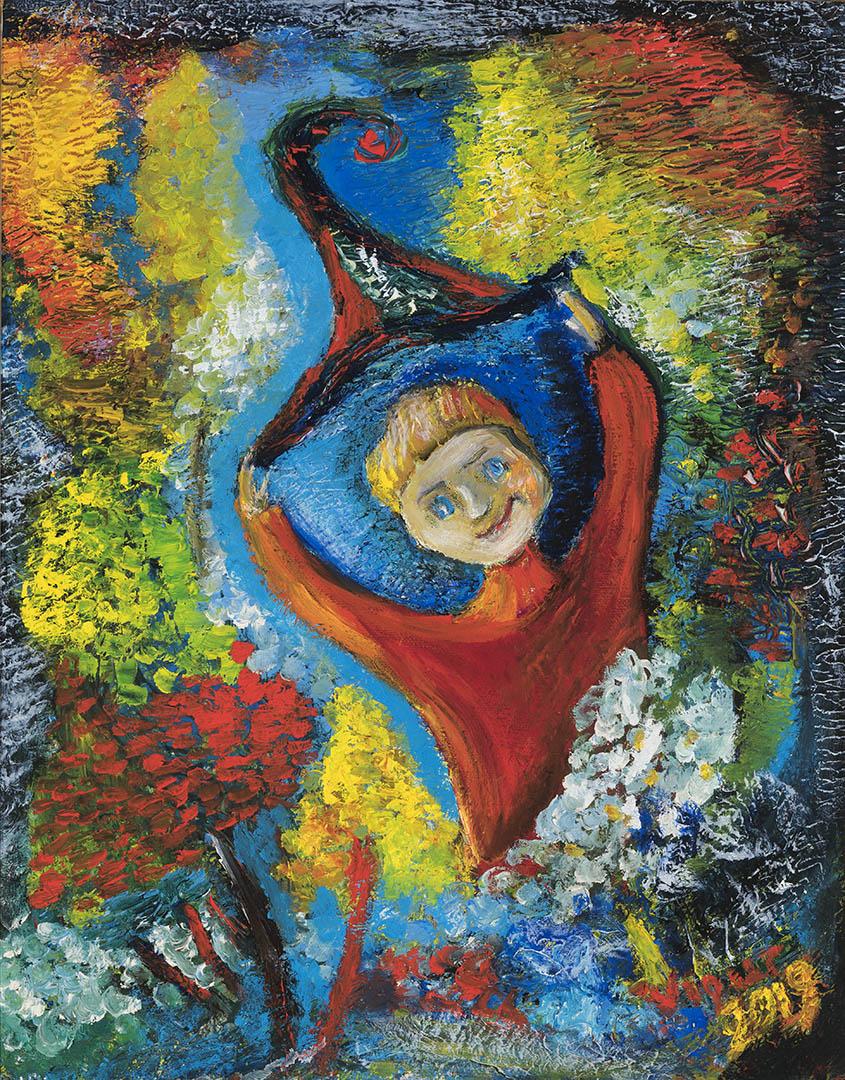 """Virginija Guršnienė. """"Katulis"""", 2019 m. Drobė, aliejus; 50 x 40 cm"""