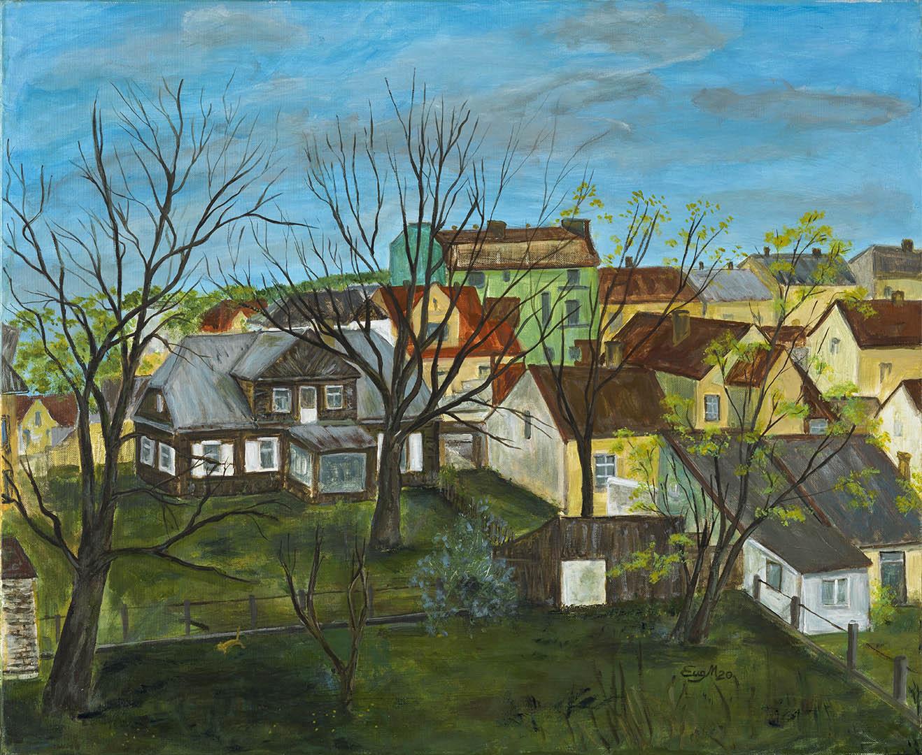 """Eugenija Martinaitytė. """"Pavasaris"""", 2020 m. Drobė, akrilas; 60 x 73 cm"""